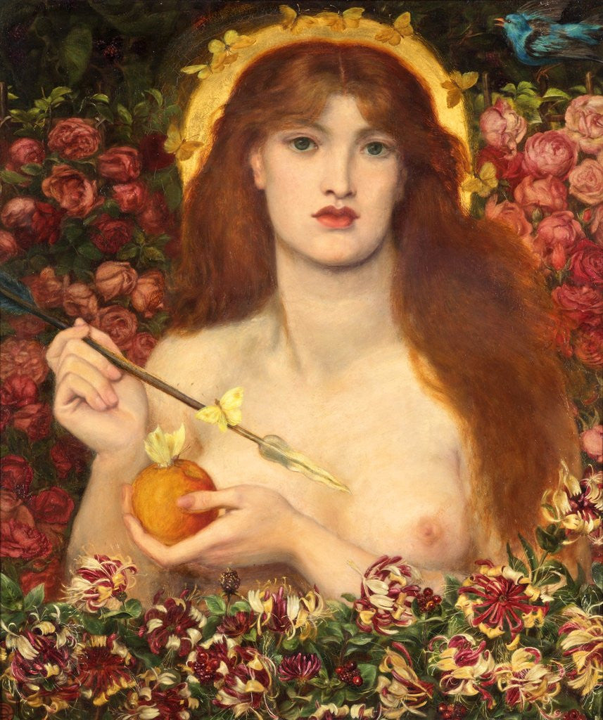 Detail of Venus Verticordia by Dante Gabriel Rossetti