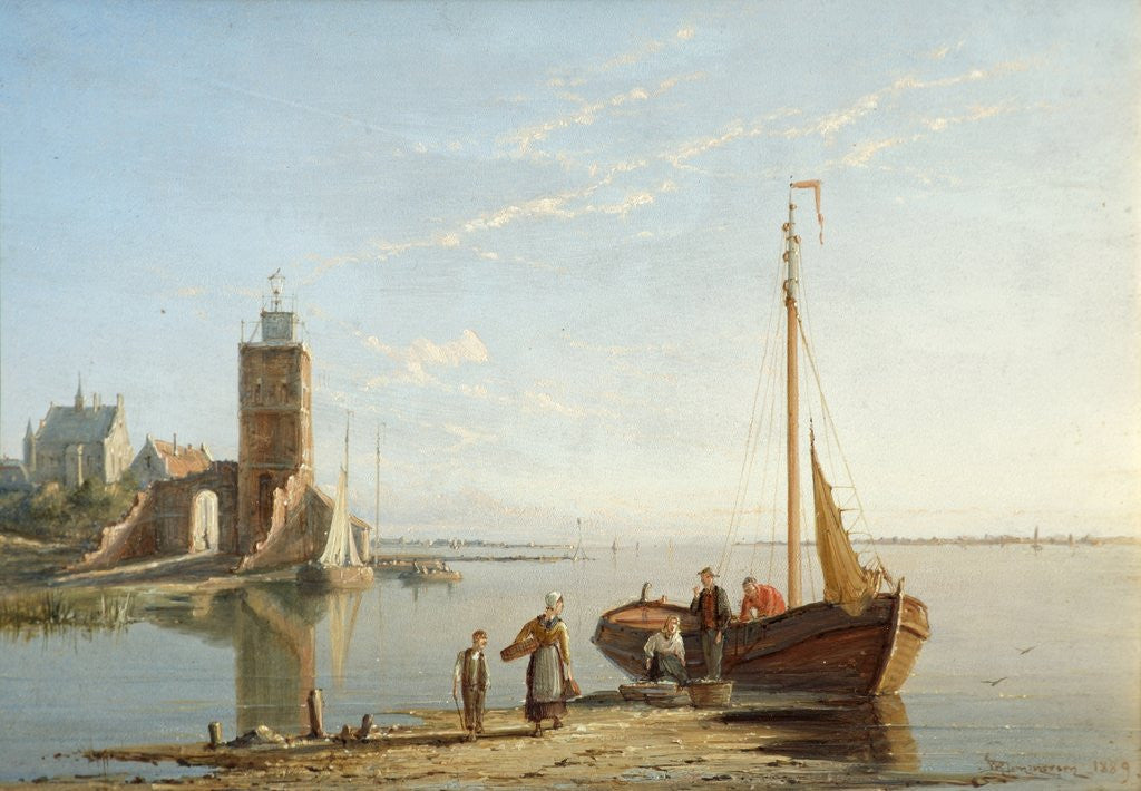 Detail of The Lighthouse at Tholen, Zimmer Zee, Holland by William Raymond Dommerson