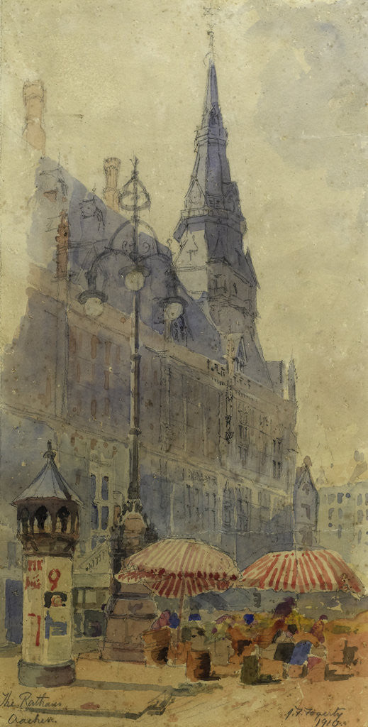 Detail of The Rathaus, Aachen by John Frederick Fogerty