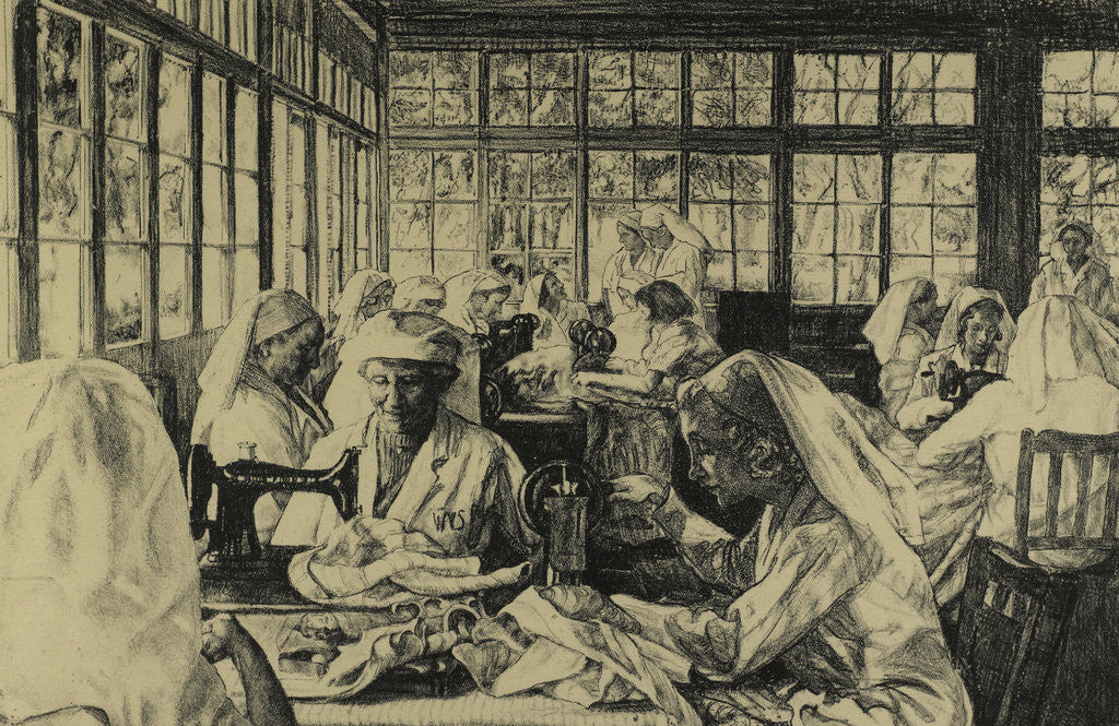 Detail of Hospital Supply Depot at Roehampton Club by Ethel Gabain
