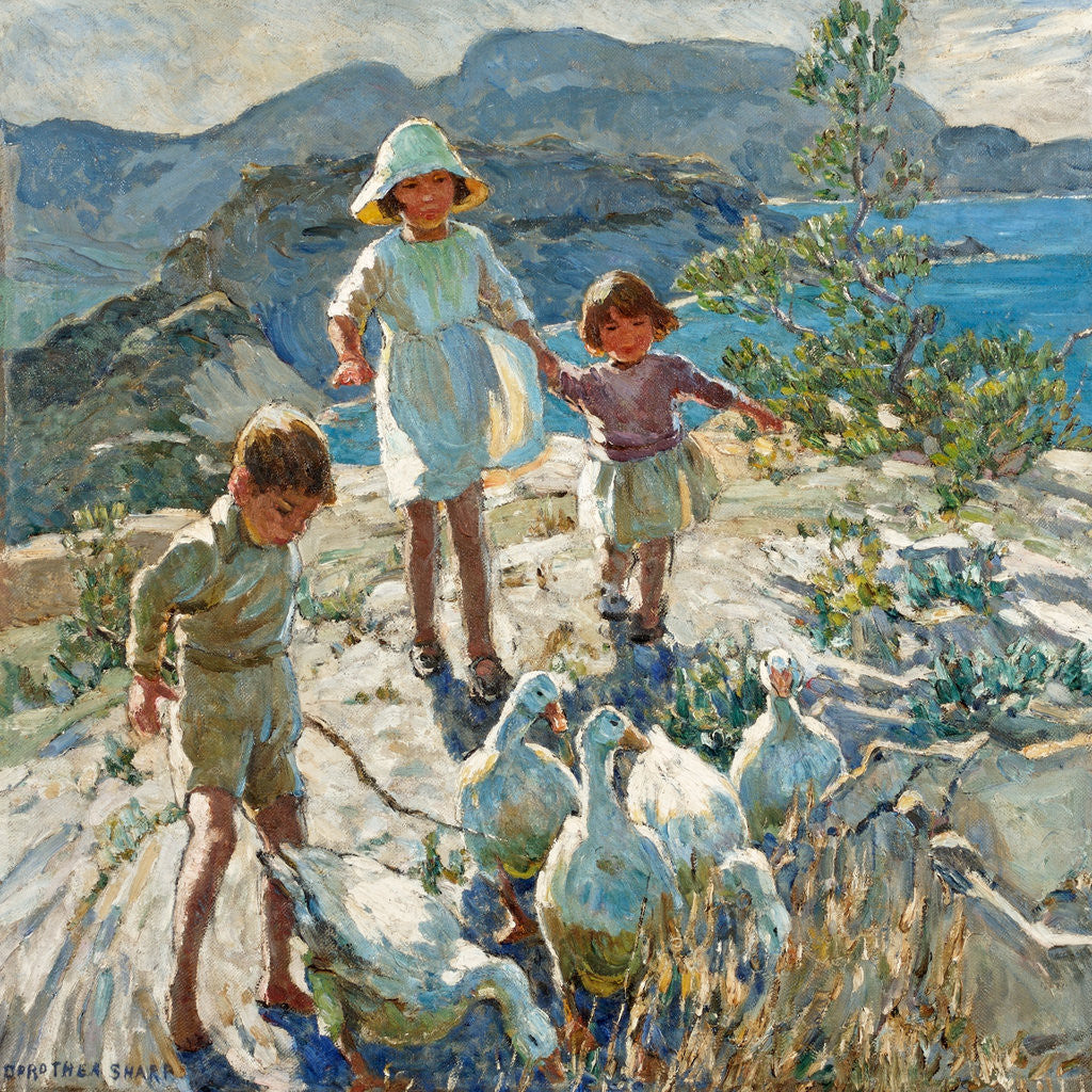 Detail of A Cornish Holiday by Dorothea Sharp