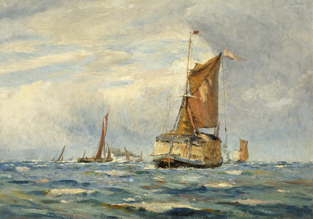 Detail of A Breezy Day on the Medway by William Lionel Wyllie