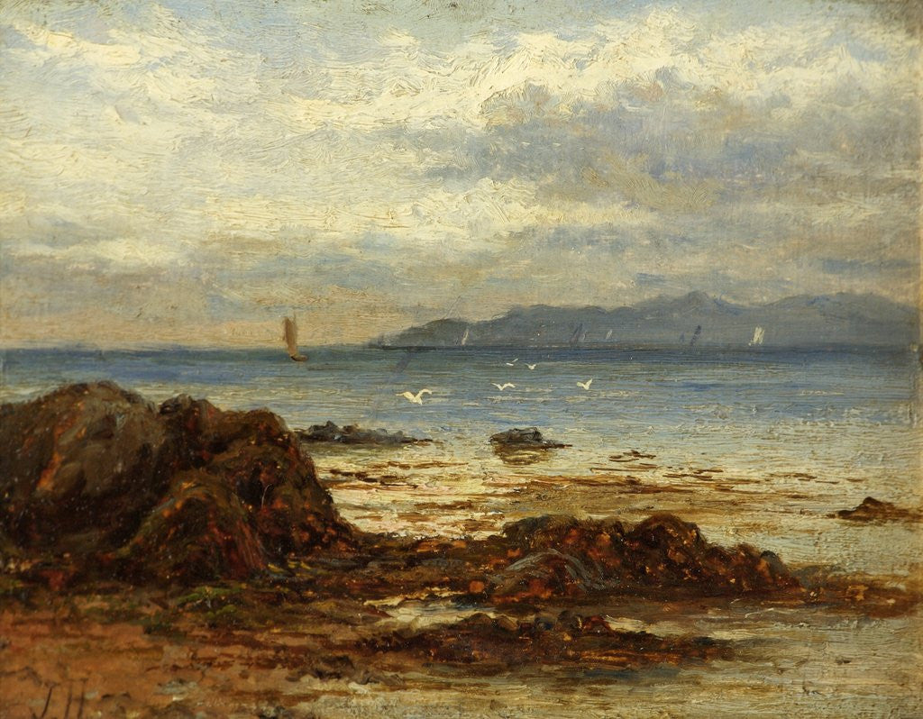 Detail of Coastal Shipping from a Rocky Shore by James Henderson