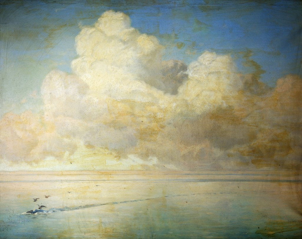 Detail of Seagulls on a Calm Sea by William Peter Watson