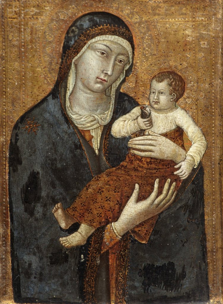 Detail of Madonna and Child by Siennese School