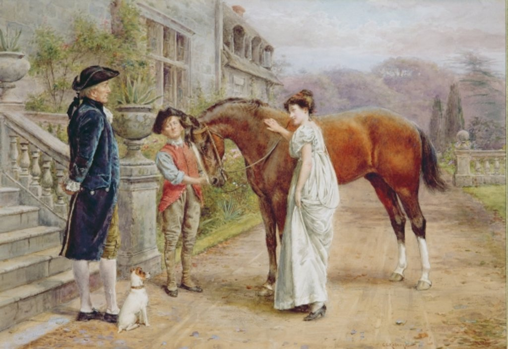 Detail of A Favourite Mare, c.1900 by George Goodwin Kilburne