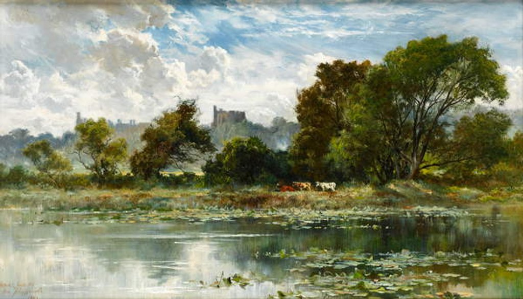Detail of Windsor Castle from a Thames backwater by Keeley Halswelle