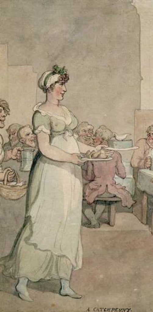 Detail of A Penny 'Slap Bang' Shop by Thomas Rowlandson