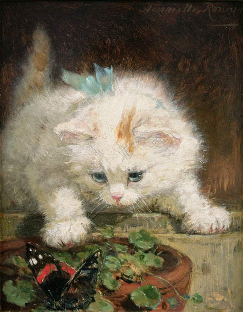 Detail of Temptation by Henriette Ronner-Knip