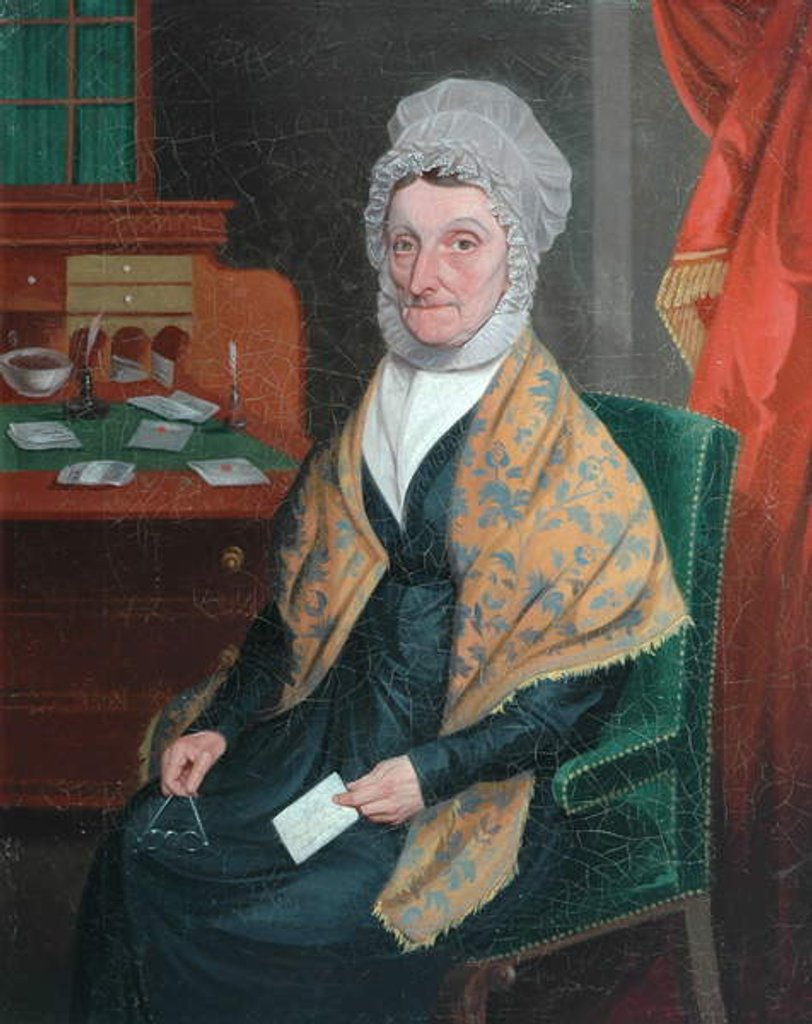 Detail of Mrs Martha Cooke, c.1830 by William Gibbs