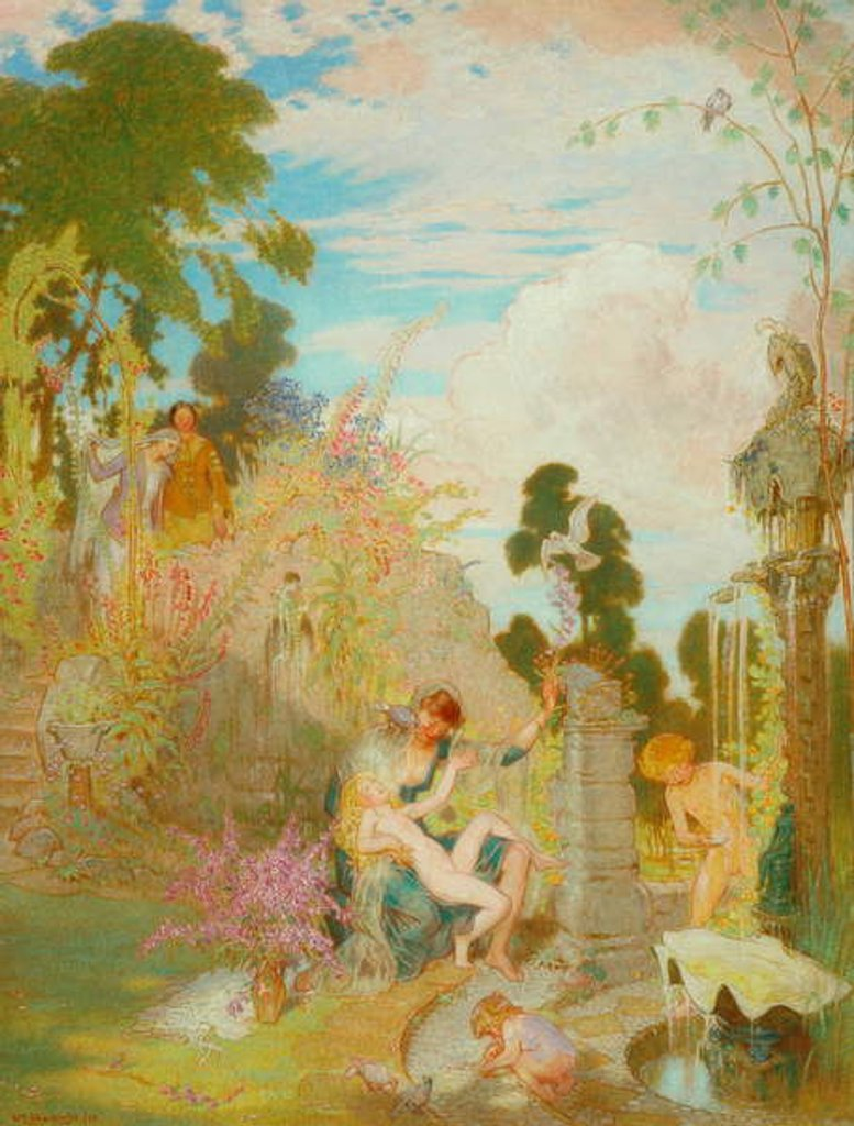 Detail of A Garden Idyll, 1929 by William Shackleton
