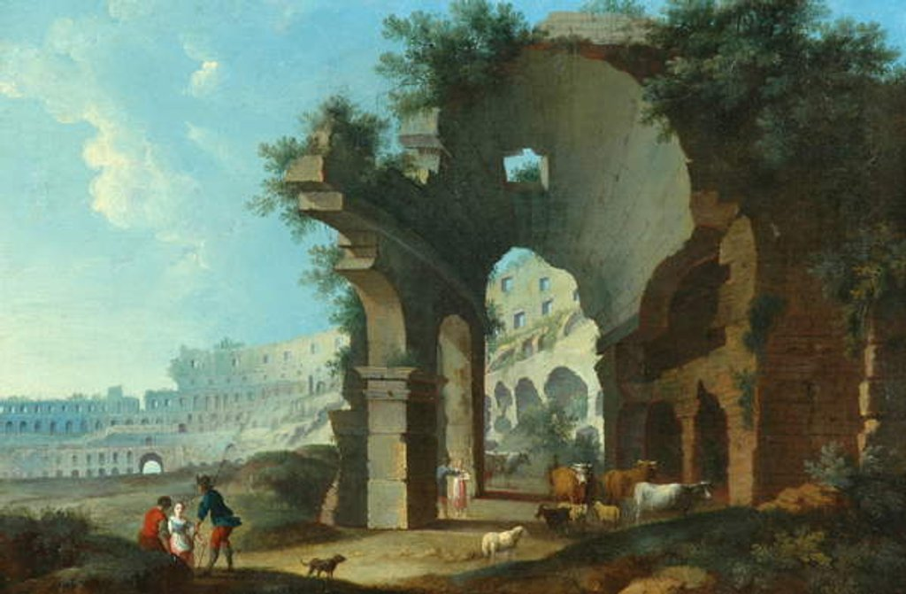 Detail of The Colosseum at Rome by Hendrik van Lint