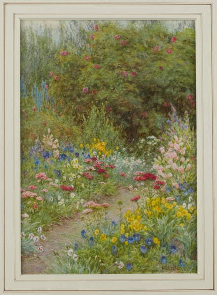 Detail of The Little Path, 1920 by Helen Allingham
