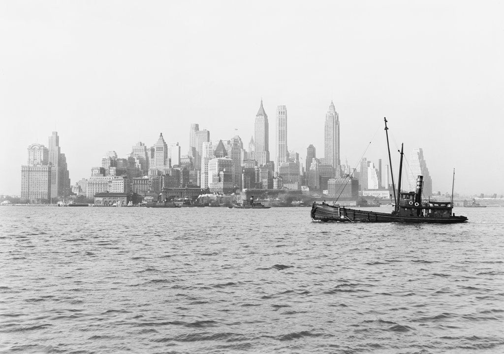 Detail of Steamboat in New York Harbor by Corbis