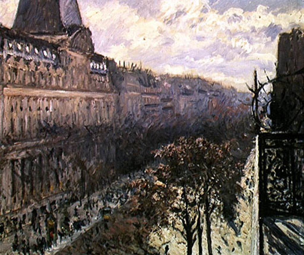 Detail of Boulevard des Italiens, c.1880 by Gustave Caillebotte