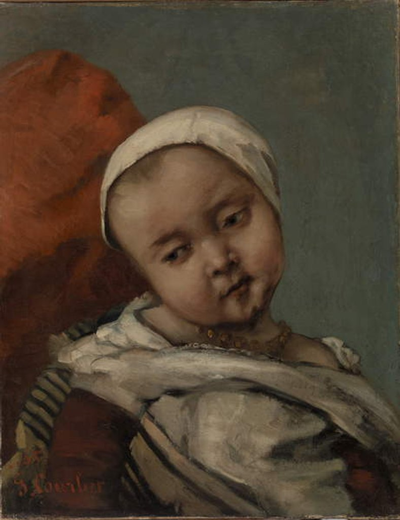 Detail of Head of a Baby, 1865 by Gustave Courbet