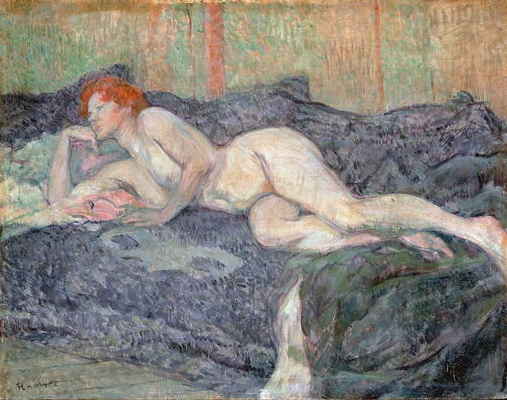 Detail of Reclining Nude, 1897 by Henri de Toulouse-Lautrec