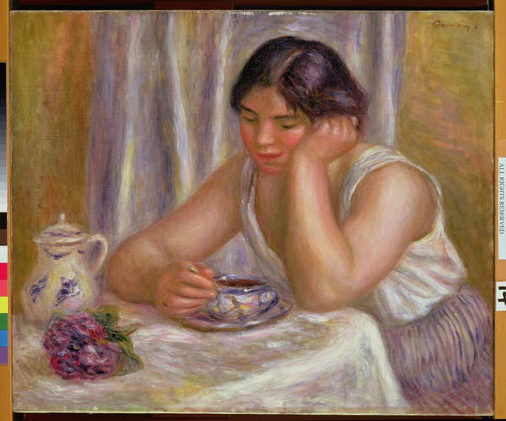 Detail of Cup of Chocolate by Pierre Auguste Renoir