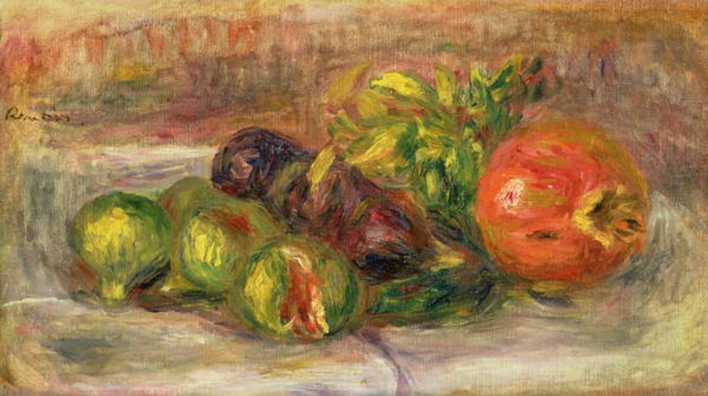 Detail of Pomegranates and Figs, 1917 by Pierre Auguste Renoir