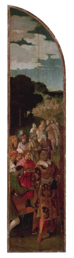 Detail of The Adoration of the Magi Triptych, c.1510 by Lucas van Leyden