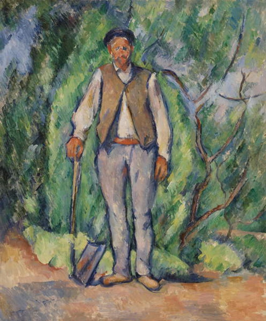Detail of Gardener by Paul Cezanne
