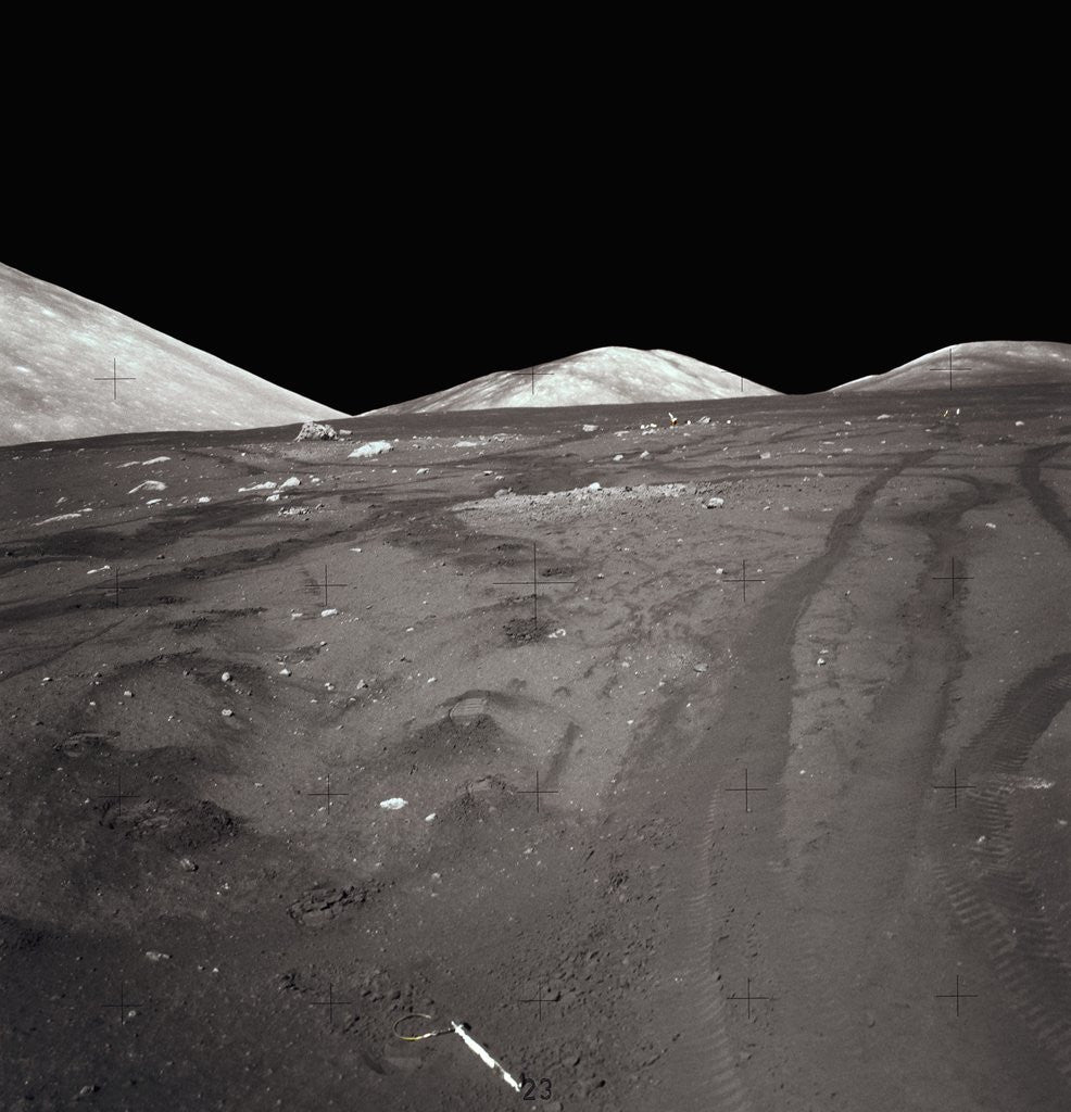 Tire Tracks on the Surface of the Moon