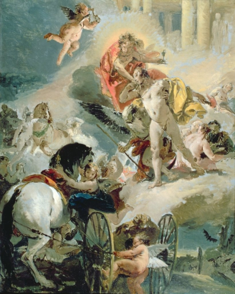 Detail of The Harnessing of the Horses of the Sun, c.1731 by Giovanni Battista Tiepolo
