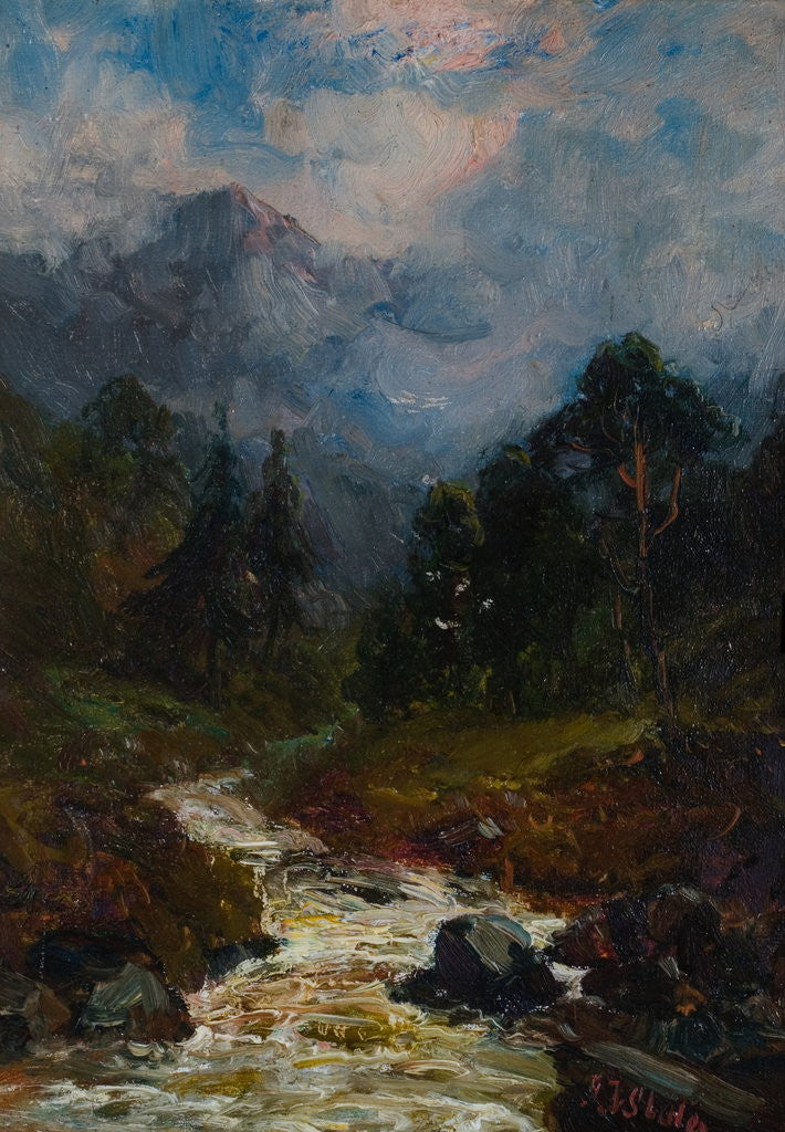 Detail of A Glen by John Falconar Slater