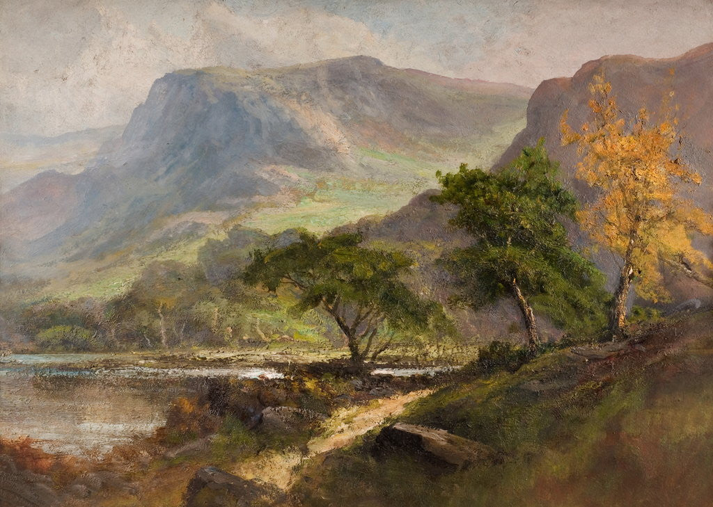 Detail of Landscape with Hills by Frank Thomas Carter