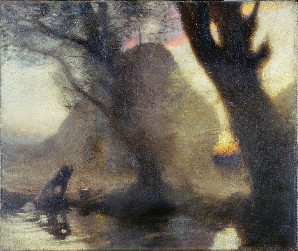 Detail of Dusk by Sir George Clausen