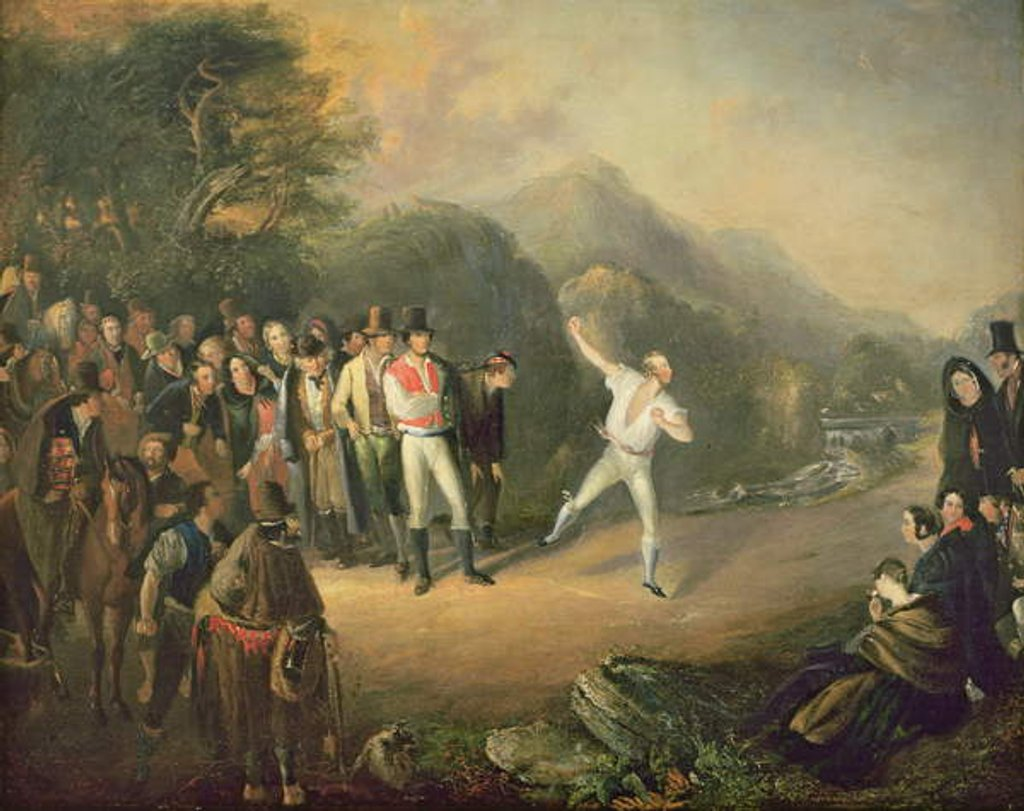 Detail of Bowling Match at Castlemary, Cloyne, 1847 by Daniel MacDonald