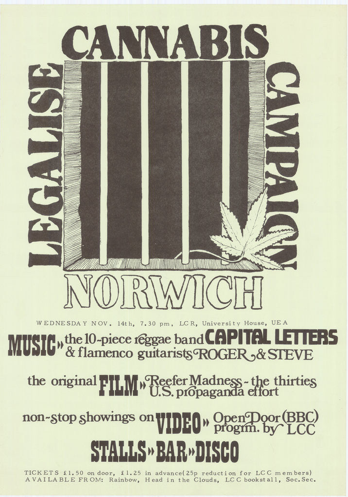 Detail of Legalise Cannabis Poster by Rokpool