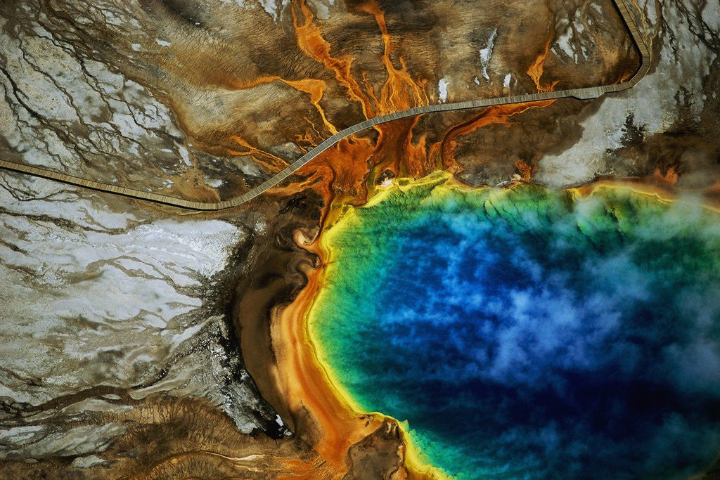 Detail of Grand Prismatic Hot Spring by Corbis