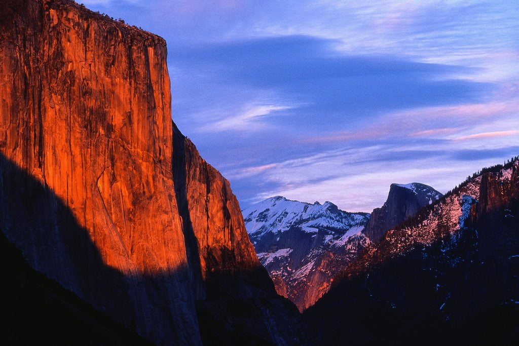 Detail of El Capitan at Sunset by Corbis