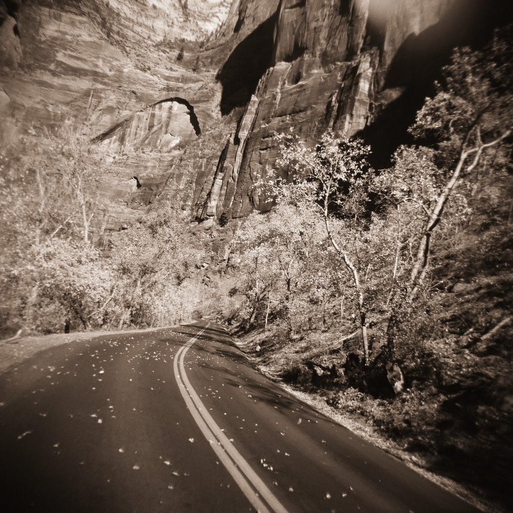 Detail of Road Winding by Cliffs by Corbis