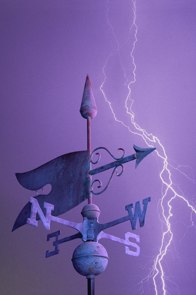 Detail of Weathervane and Lightning Bolt by Corbis
