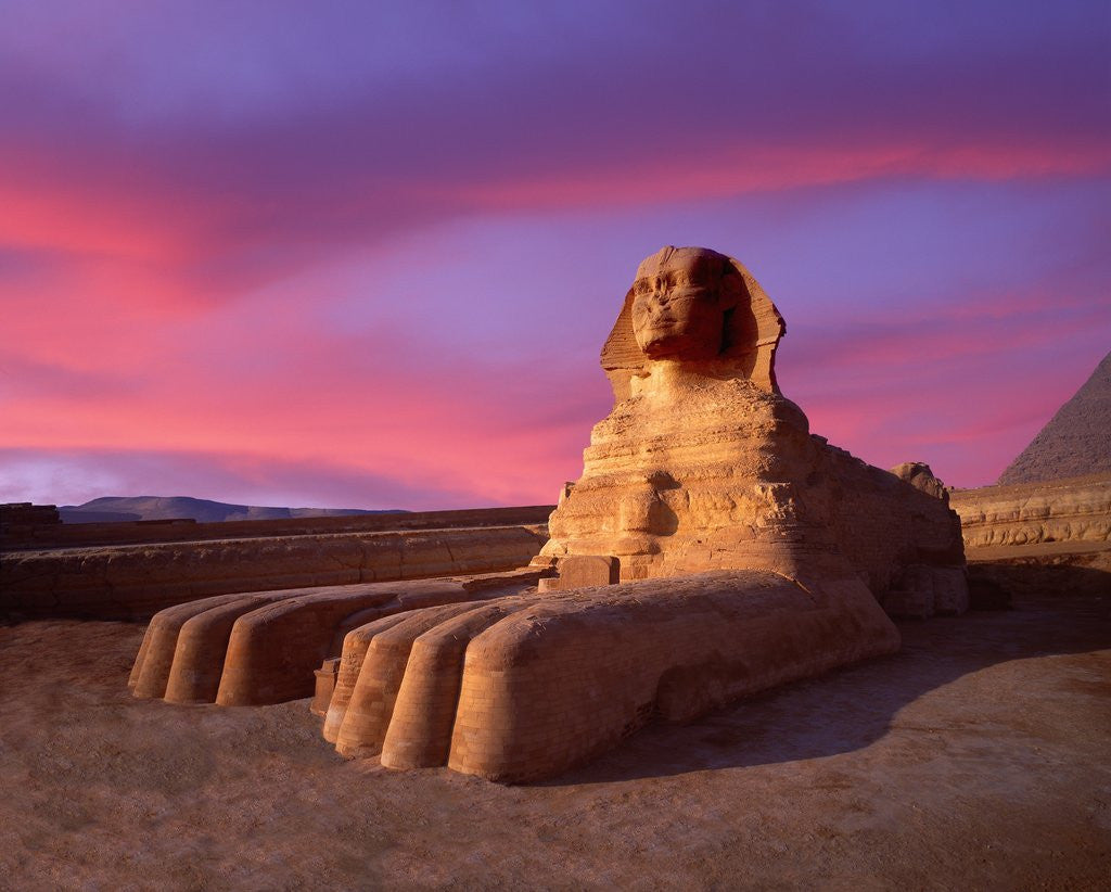 Detail of Twilight at Sphinx by Corbis