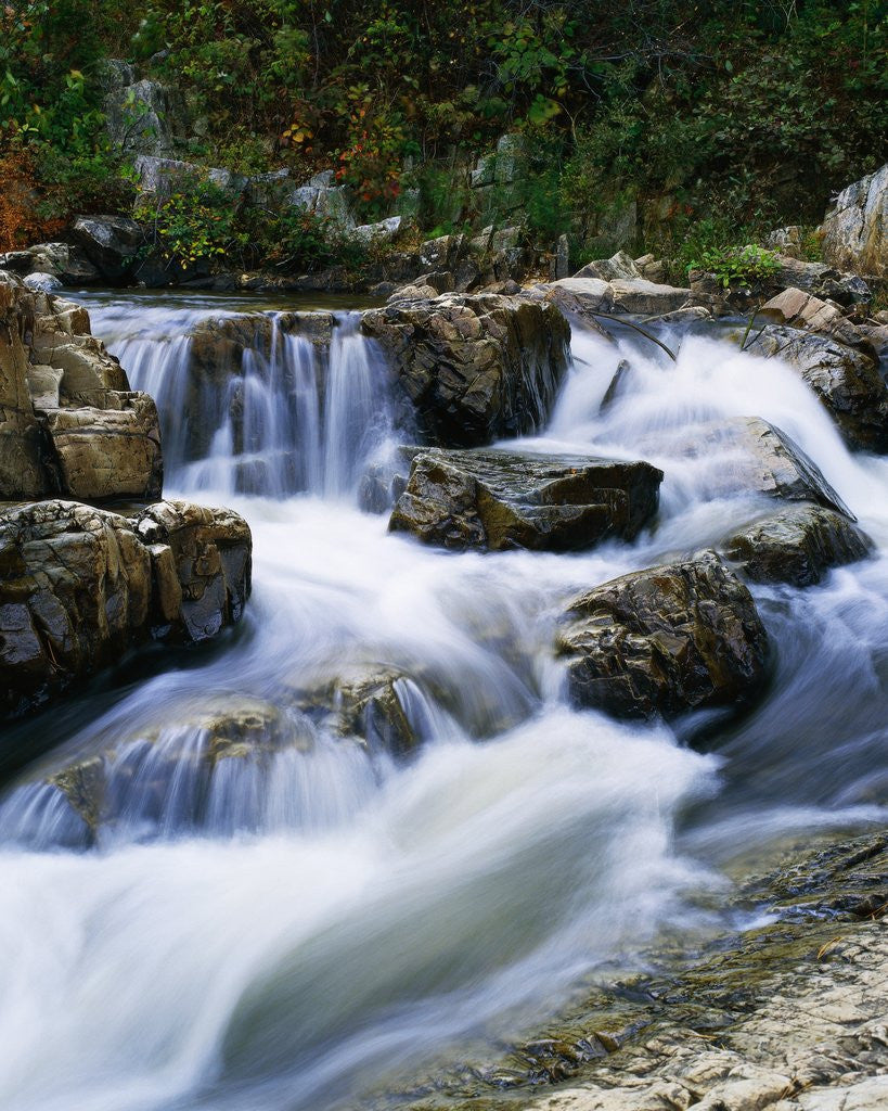Detail of Stream Cascading over Boulders by Corbis