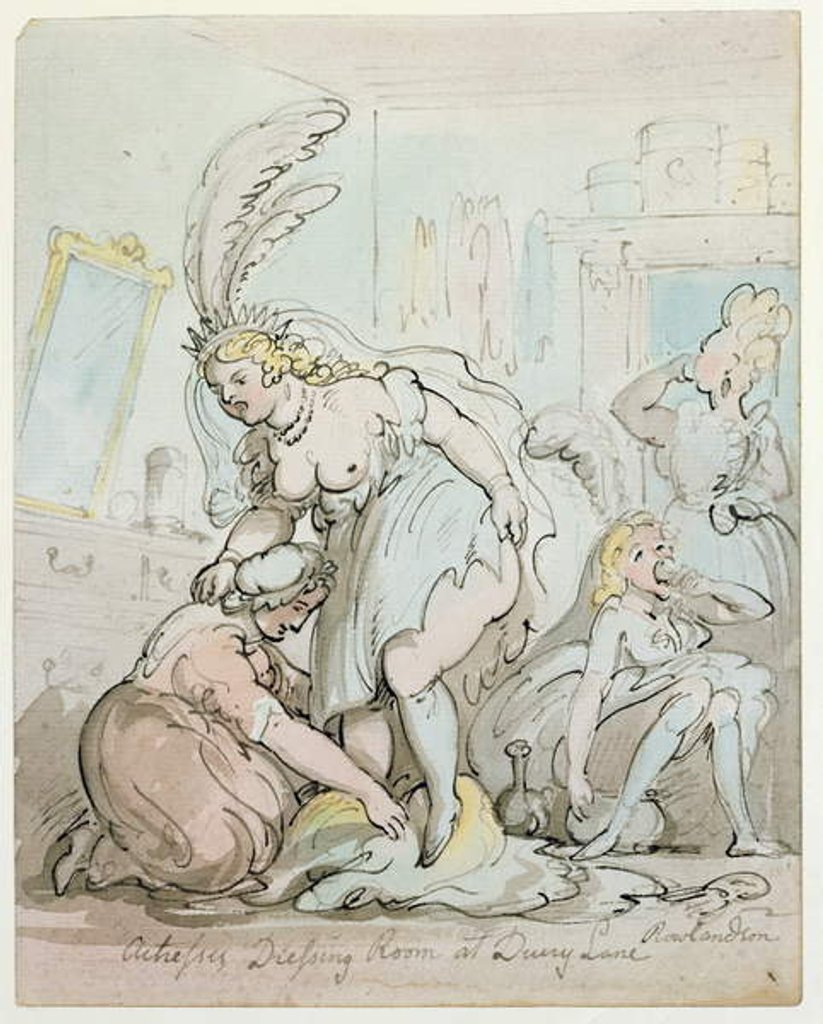 Detail of Actresses' Dressing Room at Drury Lane by Thomas Rowlandson
