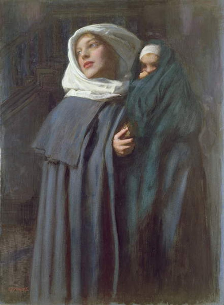 Detail of Mother and Child by Edward Robert Hughes