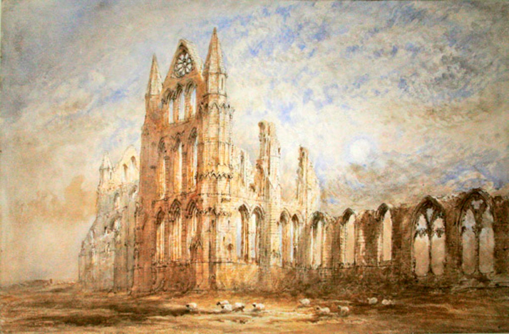 Detail of Whitby Abbey by George Weatherill