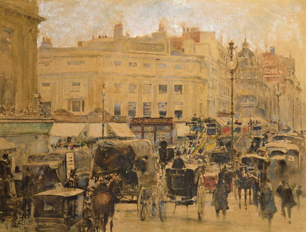 Detail of Rush Hour, Oxford Circus by William Walcot