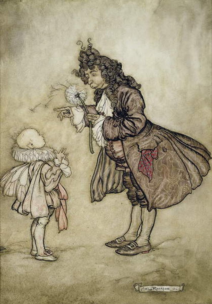 Detail of When Her Majesty Wants to Know the Time by Arthur Rackham
