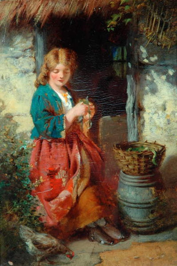 Detail of Woman At A Cottage Door, 1851-93 by Thomas Faed