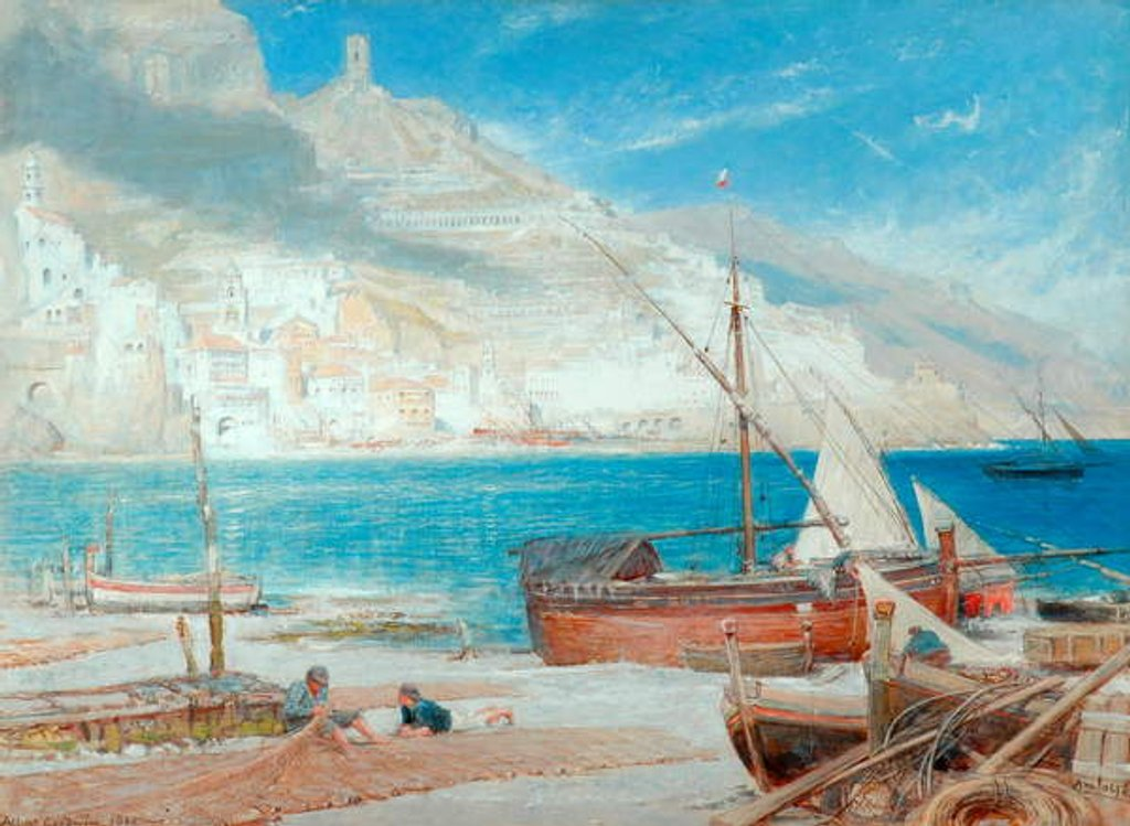 Detail of Amalfi, 1900 by Albert Goodwin