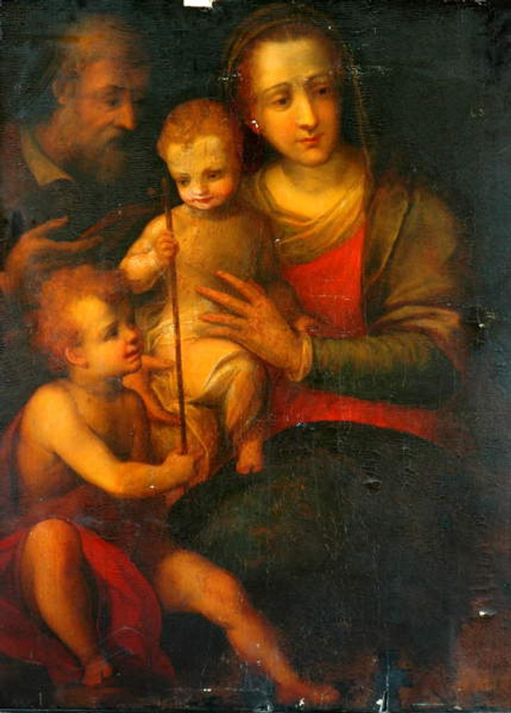 Detail of The Holy Family And St John, 1501 by Italian School