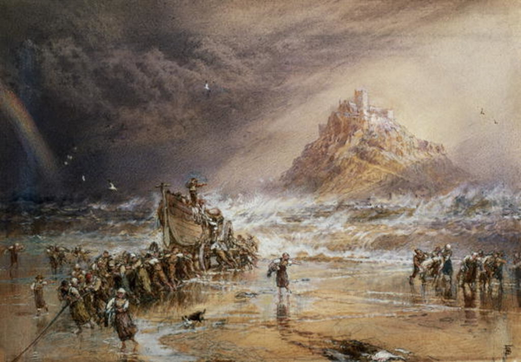The Return of the Life Boat with St. Michael's Mount in the Distance, c.1874