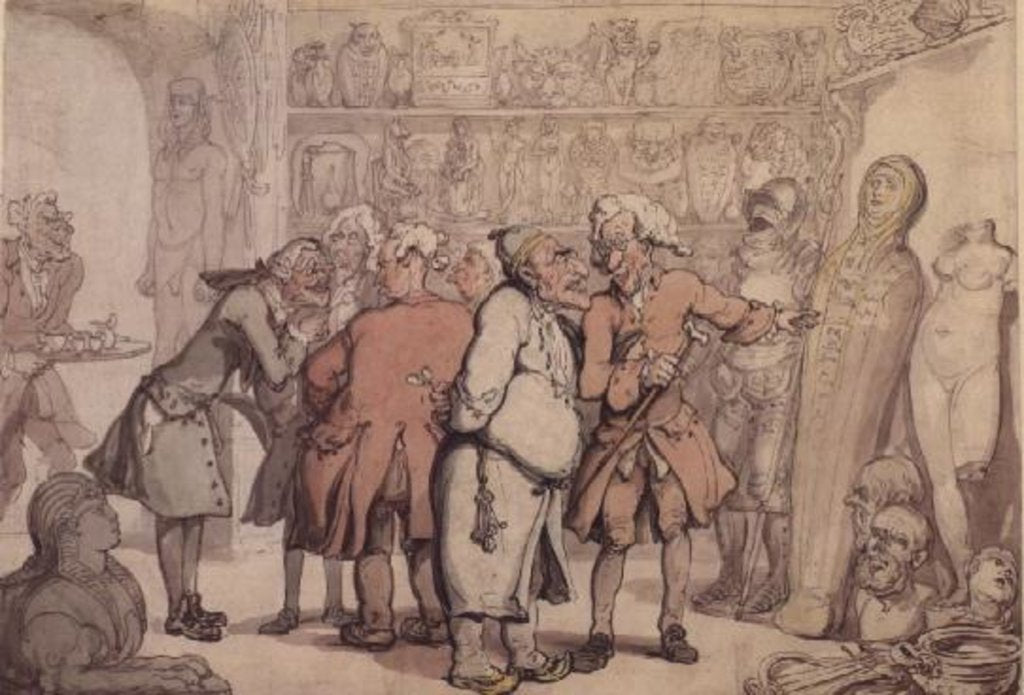 Detail of A Group of Antiquaries, c.1805 by Thomas Rowlandson
