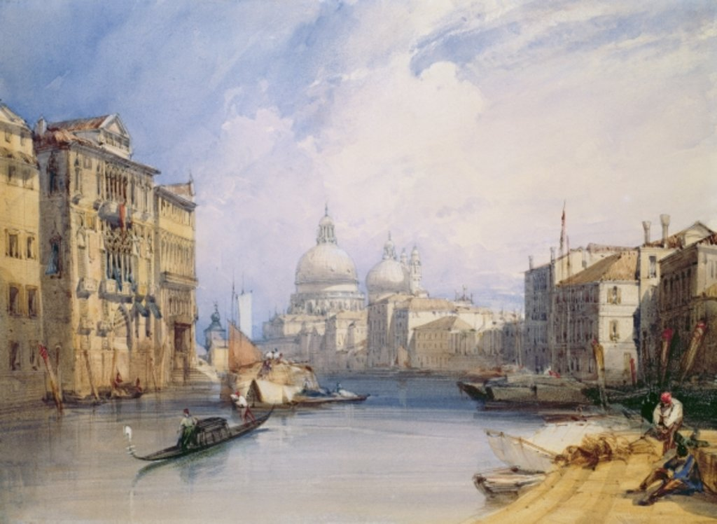 Detail of The Grand Canal, Venice, 1879 by William Callow