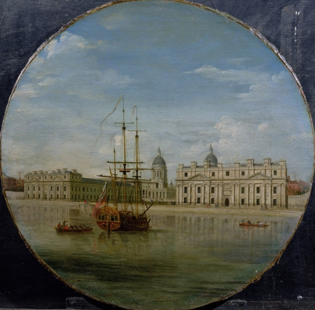 Detail of Greenwich Hospital from the River, 1748 by Samuel Wale